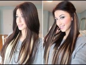 hair highlights bottom instant highlights with luxy hair extensions youtube