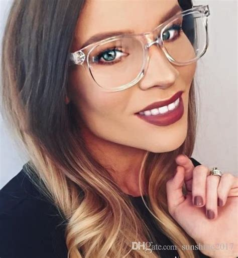transparently trendy the clear glasses 2018 transparent crystal clear frame square lens eye