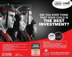 Imperial College Sri Lanka Mba by Of Salford Manchester Bachelor Degree Programme