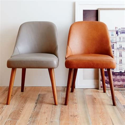 mid century leather chair mid century leather dining chair west elm