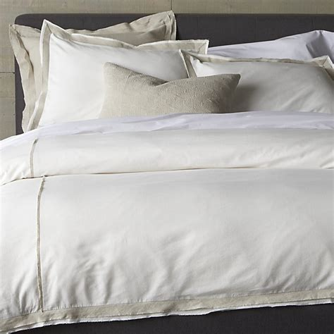 crate and barrel bedding bianca white natural full queen duvet cover crate and barrel
