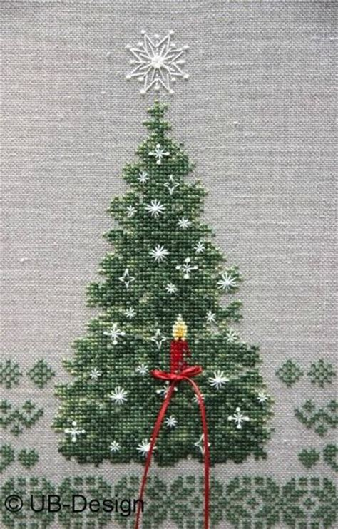 christmas tree made of cross stitch diy homer