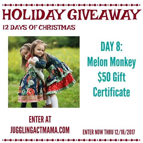 Monkey Giveaway - melon monkey holiday giveaway juggling act mama