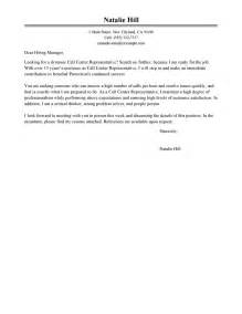 Inbound Call Center Cover Letter by Leading Professional Call Center Representative Cover Letter Exles Resources