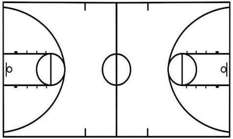 basketball court template basketball charts printable template pictures to pin