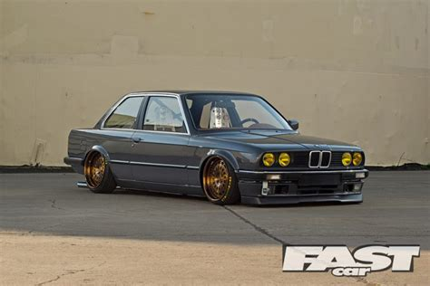 Black Leather Bench Modified Bmw E30 Fast Car