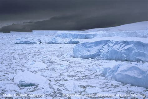 Arctic Shelf Melting by Global Warming Photography Climate Change Science