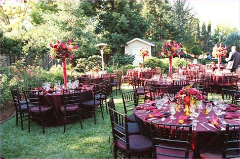 Fall Backyard Wedding Ideas Fall Wedding Reception Decorating Ideas Home Design Ideas