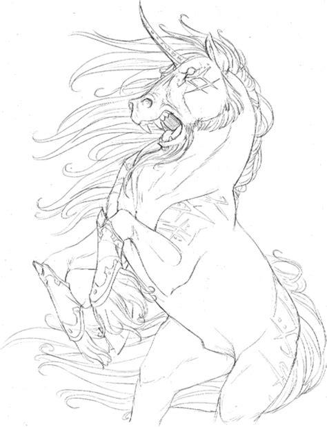 licorne dessin