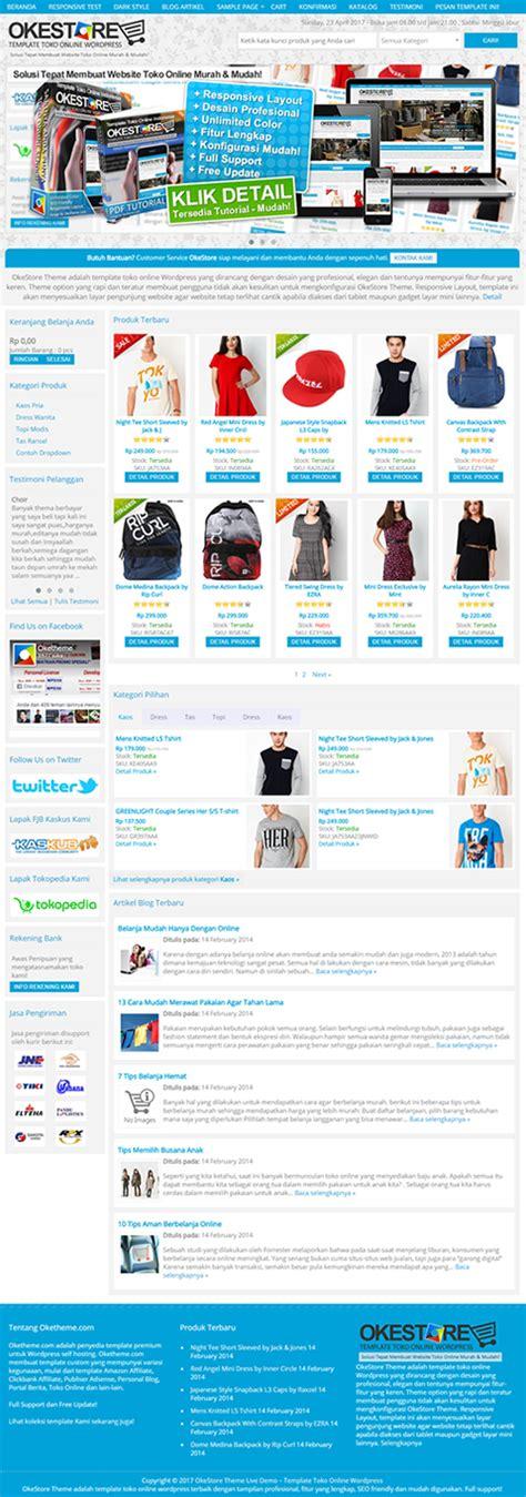 template toko online dengan wordpress okestore theme template toko online wordpress terbaik
