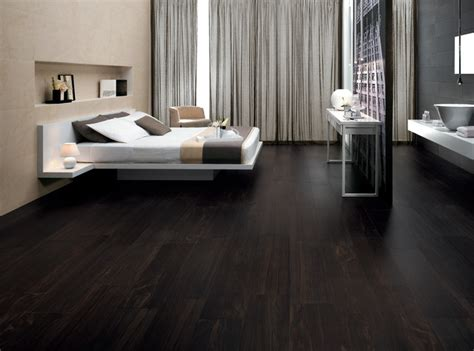 bedroom floor etic ebano wood inspired porcelain tiles contemporary