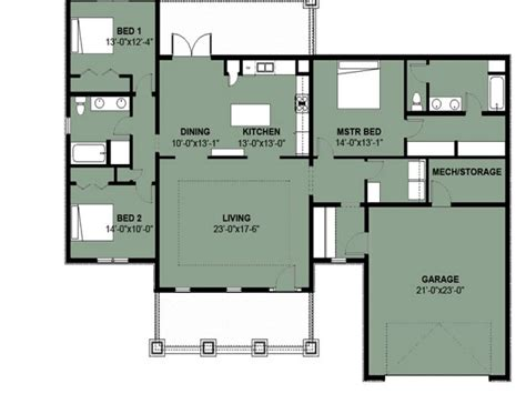 Simple 3 Bedroom House Floor Plans Simple 3 Bedroom 2 Bath 3 Bedroom Home Plans Designs