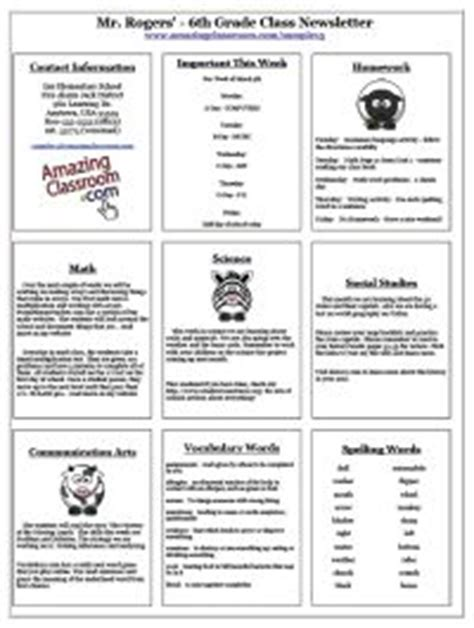 1000 Images About Classroom Newsletters On Pinterest Classroom Newsletter Weekly Classroom Monkey Newsletter Template