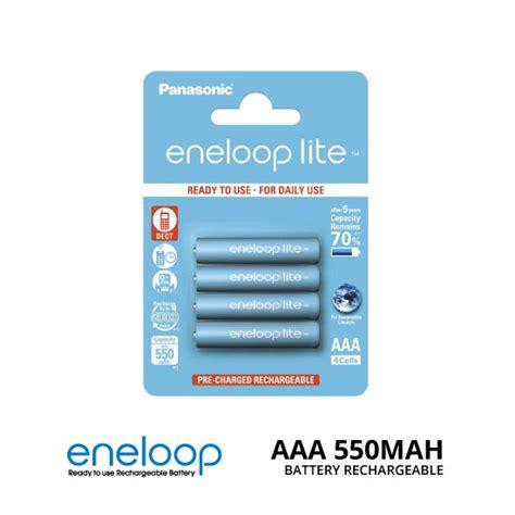 Panasonic Eneloop Aaa Isi 4 jual panasonic eneloop lite aaa 550mah isi 4 baterai