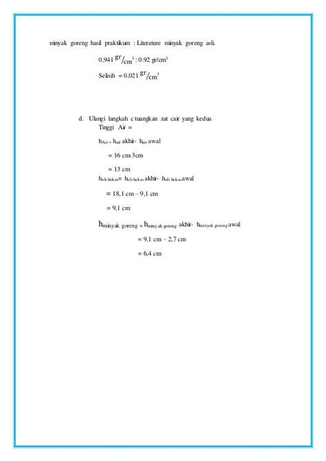 laporan praktikum membuat larutan dari zat cair laporan praktikum fisika hidrostatika