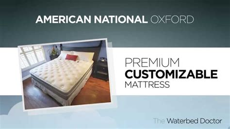 american national oxford soft side waterbed mattress offered by the waterbed doctor