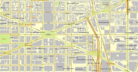 washington dc road map pdf washington d c us vector map adobe pdf editable city