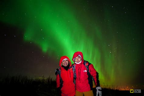 extreme iceland northern lights golden circle snowmobiling on langj 246 kull northern lights