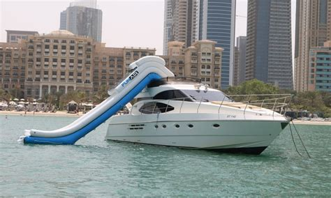52ft boat 52ft yacht cruise and water slide experience asfar