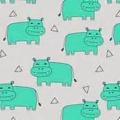 Lil Dots Geos Helena Ukuran S hippo fabric wallpaper gift wrap spoonflower
