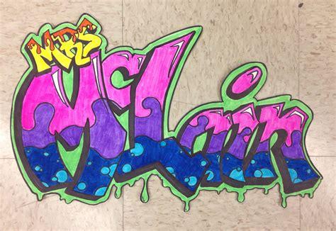 middle school art lesson  graffiti
