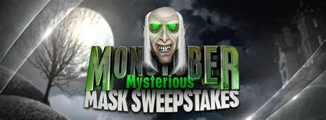 Disney Channel Sweepstakes - enter the disney channel monstober mysterious mask sweepstakes tonight