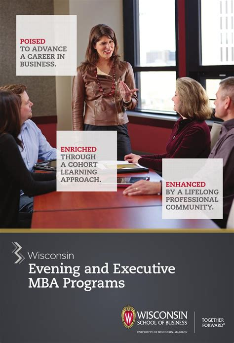 Uw Executive Mba by Evening And Executive Mba Brochure 2014 By Of