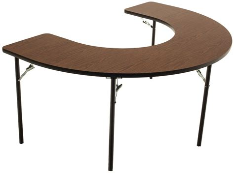 Feeding Table by Horseshoe Shaped Folding Feeding Table With 1 Thick
