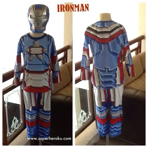 kaos anak karakter iron patriot superheroku