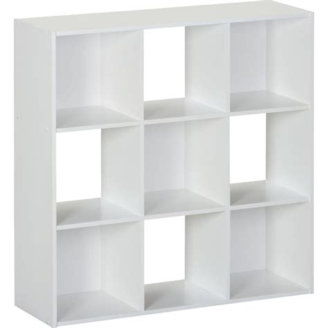 9 Cubby Shelf by Systembuild 36 In X 36 In White 9 Cube Storage Organizer