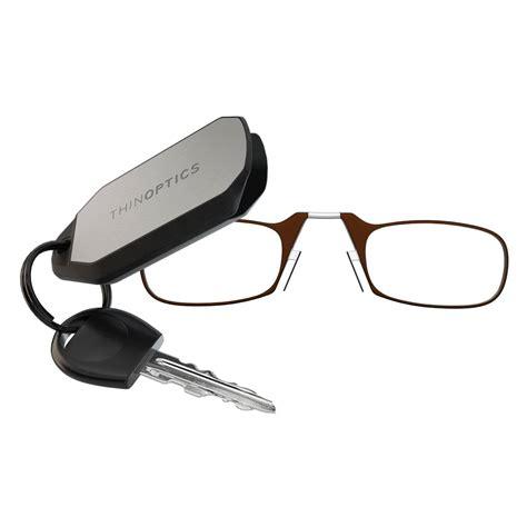 thinoptics foldable keychain reading glasses gadgetking