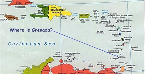where is grenada on a map grenada 1983 map of grenada