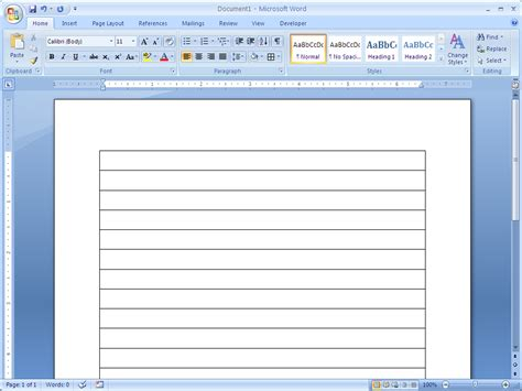 How To Make Lined Paper - how to make lined paper in word 2007 4 steps with pictures