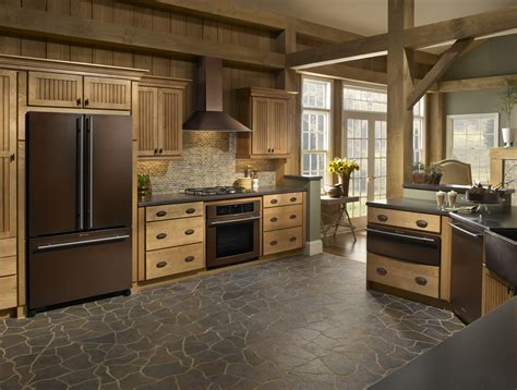 Kitchen Island Hoods by Appliance Color Choice For New Home Stainless Or Oiled Bronze
