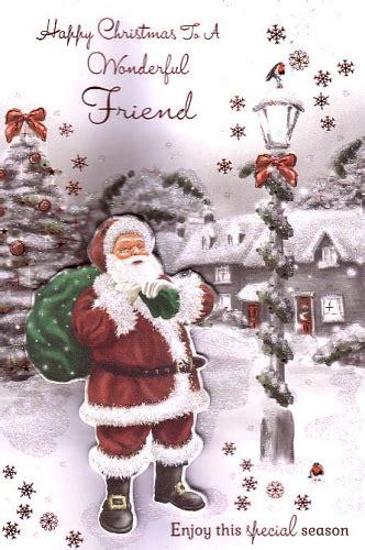 happy christmas   wonderful friend personalised braille xmas cards