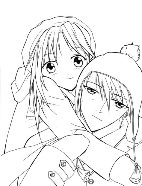 coloring pages love couple anime coloring pages for adults bestofcoloring com