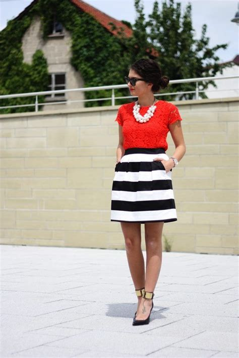 18046 Skirt Blackwhite 10 images about what to wear with color on colored maxi skirts and