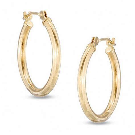 20mm polished hoop earrings in 14k gold gold earrings