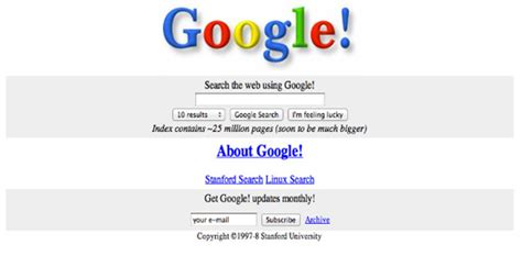 google images old version look back at the world s biggest websites caro creative