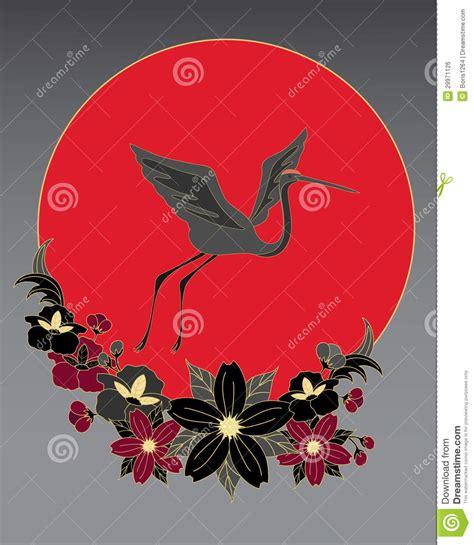 fiori stilizzati giapponesi japanese birds royalty free stock image image 29971126