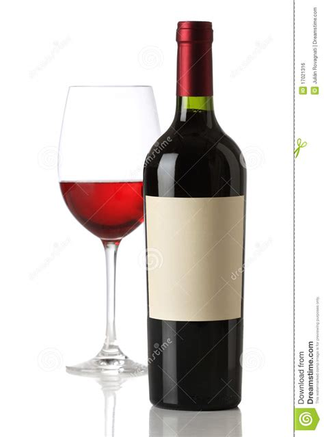 Red Wine Bottle With And Empty Label Royalty Free Stock Image   Image: 17021316