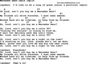 Janis Joplin Mercedes Chords Protest Song Mercedes Janis Joplin Lyrics And Chords Quot