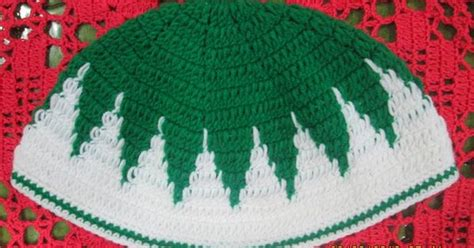 pattern crochet kopiah cap or quot kopiah quot for muslims adult for prayers crochet