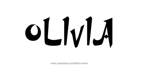 olivia tattoo name designs