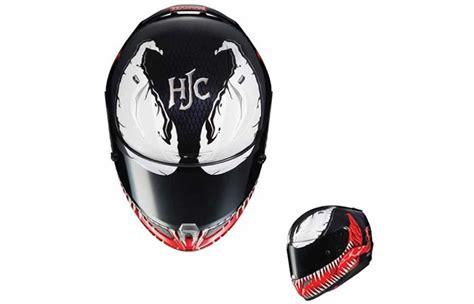 Helm Hjc Venom hjc x marvel spider and venom helmets
