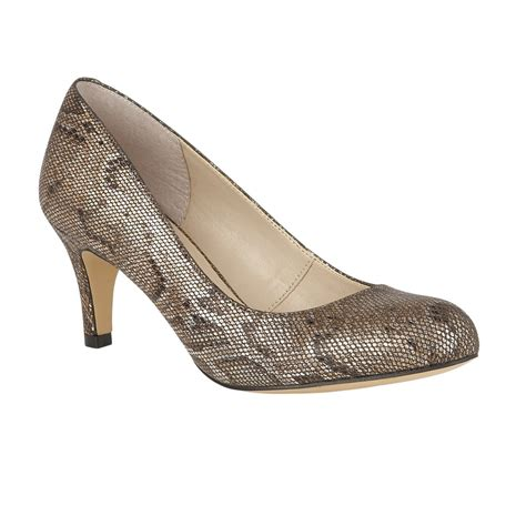bronze snake printed colombina court shoes lotus shoes