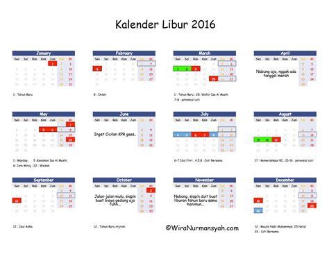 Kalender Tahun 2018 Beserta Tanggal Merah Kalender Libur 2016 Daftar Tanggal Merah Cuti Bersama
