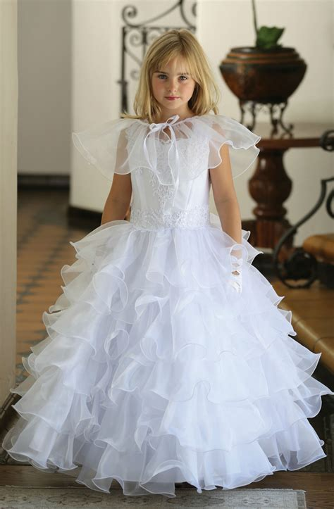 agdr girls dress style dr white satin dress