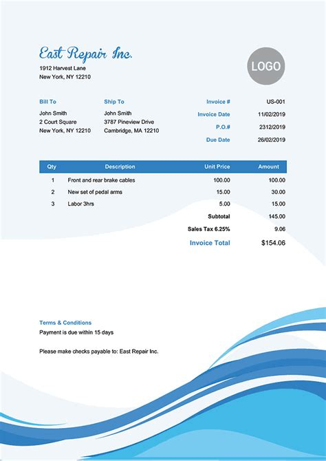 invoice templates print email   fast
