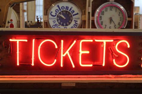 vintage light up signs vintage light up tickets sign at 1stdibs